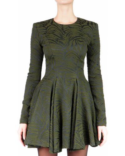 Платье осеннее зеленый Plein Sud