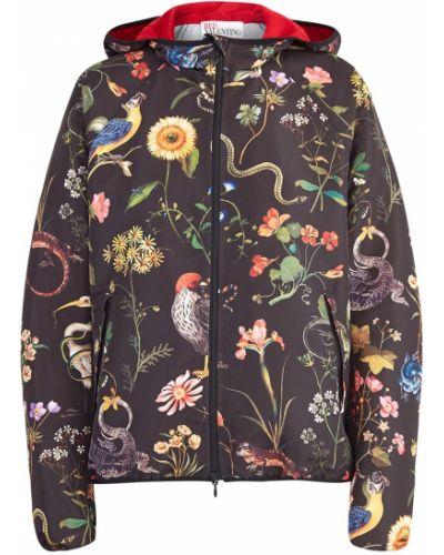 Куртка с капюшоном на резинке на молнии Red Valentino