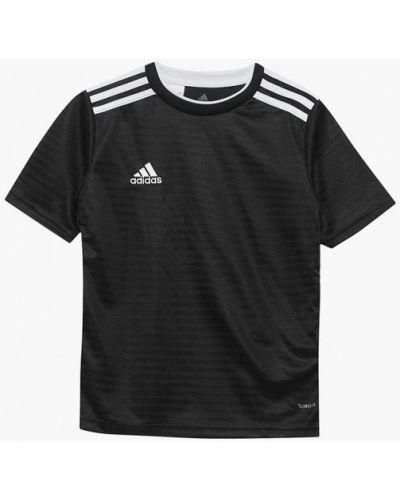 Футболка футбольный черный Adidas