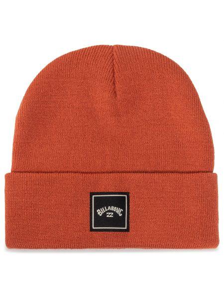 Pomarańczowa czapka z akrylu Billabong