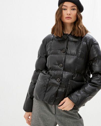 Черная кожаная кожаная куртка Fresh Cotton