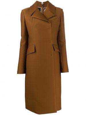 Коричневое пальто с капюшоном N°21