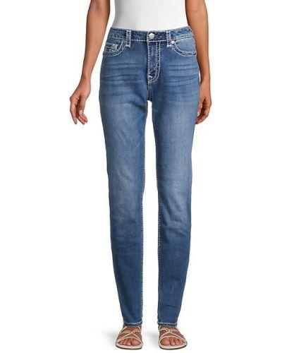 Хлопковые бежевые джинсы с карманами True Religion