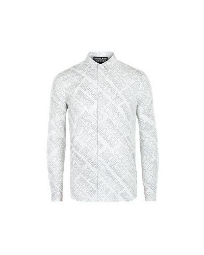 Джинсовая рубашка - белая Versace Jeans Couture