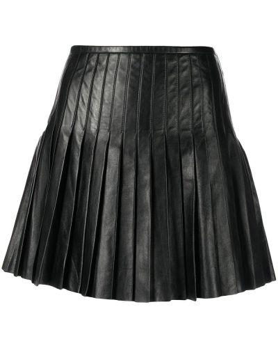 Юбка мини с завышенной талией - черная Polo Ralph Lauren