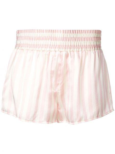 Пижамные розовые шорты эластичные с вышивкой Morgan Lane