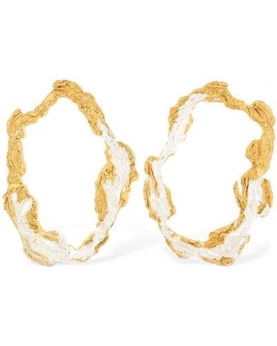 Złote kolczyki sztyfty pozłacane Loveness Lee