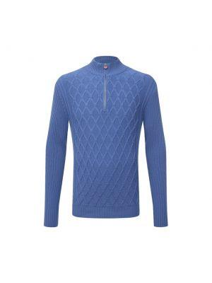 Голубая кашемировая свитер Kiton