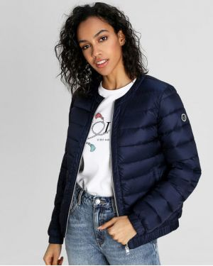 Синяя нейлоновая куртка на резинке на молнии Ostin