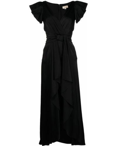 Шелковое платье с запахом с V-образным вырезом на молнии Temperley London