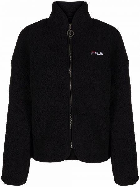 Флисовая куртка - черная Fila