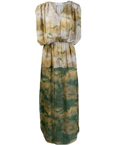 Плиссированное платье с вырезом на молнии Ailanto