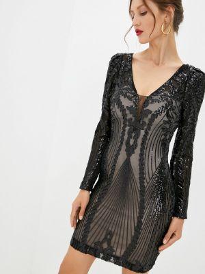 Черное зимнее вечернее платье Soky & Soka