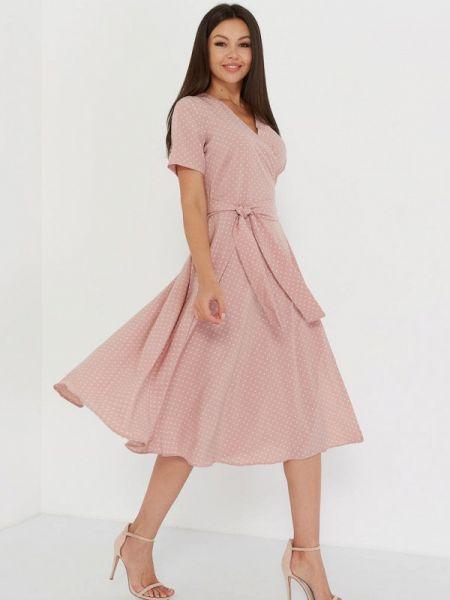 Однобортное розовое платье A.karina