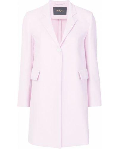 Однобортное розовое длинное пальто с капюшоном Les Copains