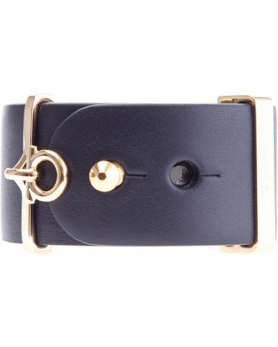 Кожаный браслет итальянский металлический Salvatore Ferragamo