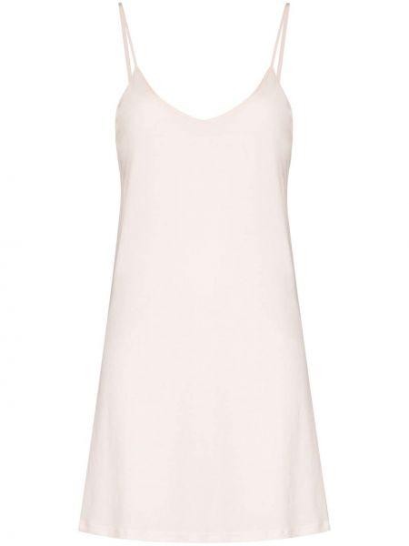Хлопковое платье мини - розовое Skin