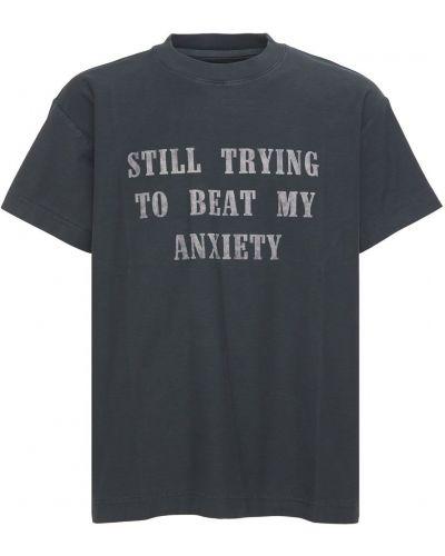 T-shirt bawełniany Flaneur Homme