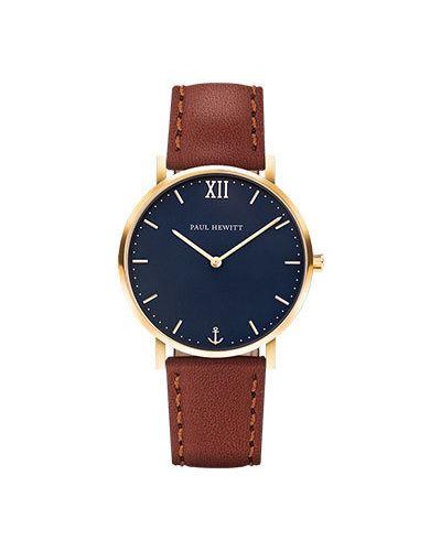 Часы водонепроницаемые с кожаным ремешком кварцевые Paul Hewitt