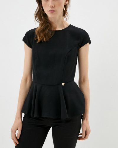 Блузка с короткими рукавами - черная Twinset Milano