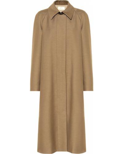 Пальто классическое бежевое шерстяное The Row