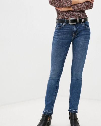 Джинсовые зауженные джинсы - синие Pepe Jeans