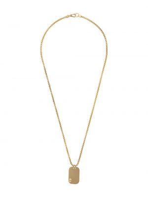 Naszyjnik złoto srebro Northskull