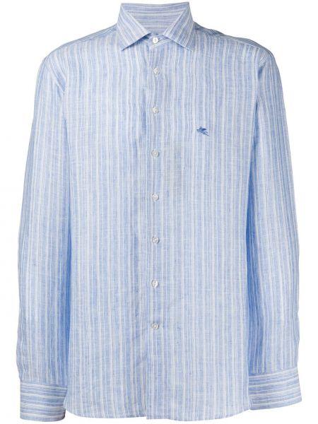 Koszula z długim rękawem klasyczna w paski Etro