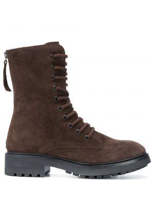 Коричневые кожаные ботинки на шнуровке P.a.r.o.s.h.