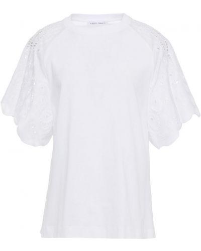 Ватная хлопковая белая футболка Alberta Ferretti