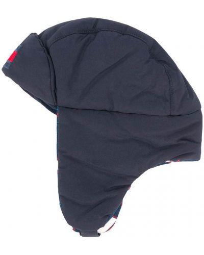 Niebieski kapelusz z haftem z nylonu Tommy Hilfiger Junior