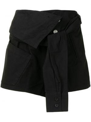 Czarna koszula bawełniana asymetryczna Rta