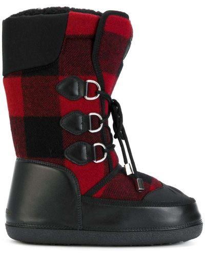Кожаные ботинки со шнуровкой черные Dsquared2