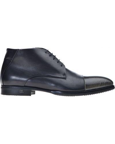 Кожаные ботинки осенние классические Baldinini
