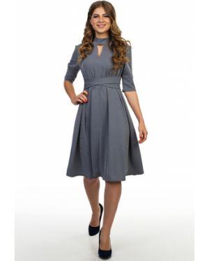 Вечернее платье с люрексом - серое Kapsula