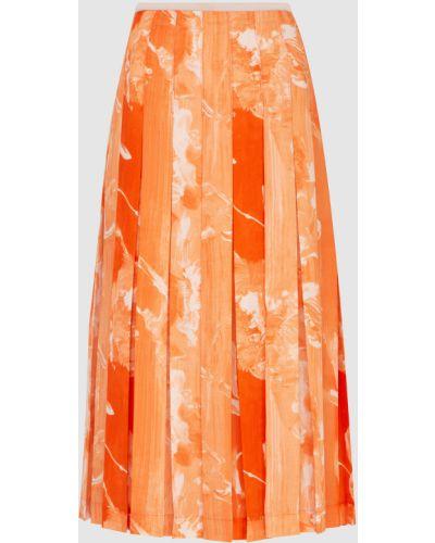 Оранжевая юбка миди Victoria Beckham
