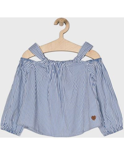 Блуза синий из вискозы Pepe Jeans
