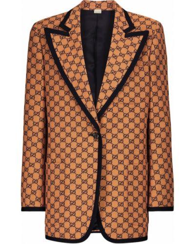 Pomarańczowa marynarka bawełniana Gucci
