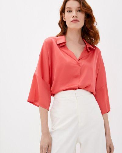 С рукавами красная блузка Арт-Деко