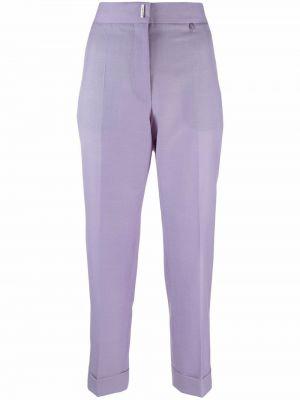 Spodnie z wiskozy - fioletowe Givenchy