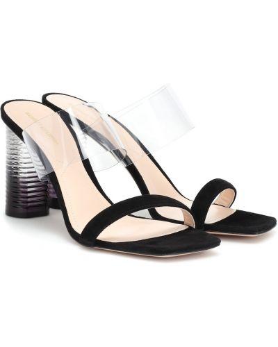 Черные сандалии на каблуке Nicholas Kirkwood