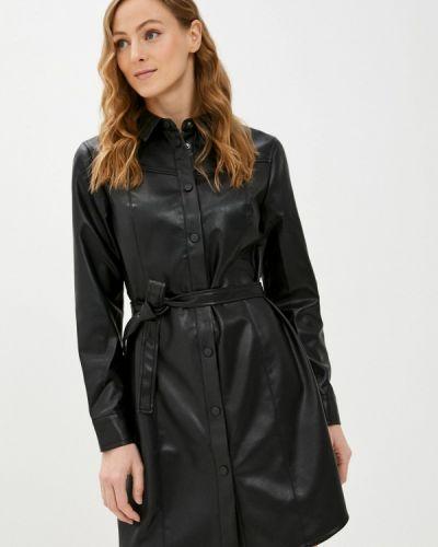 Кожаное платье - черное Zabaione