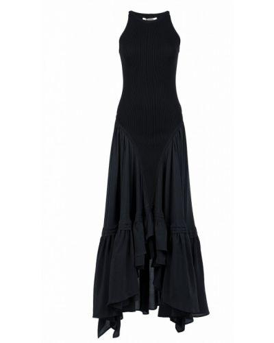 Платье макси на бретелях в рубчик Roberto Cavalli