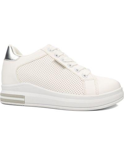 Кожаные кроссовки - белые Sopra