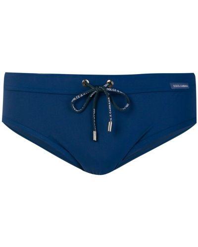 Синие плавки с логотипом Dolce & Gabbana