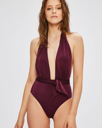 Слитный купальник фиолетовый с подкладкой Trendyol
