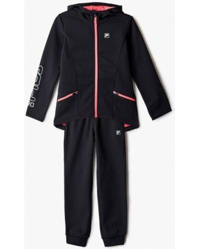 Костюмный черный спортивный костюм Fila