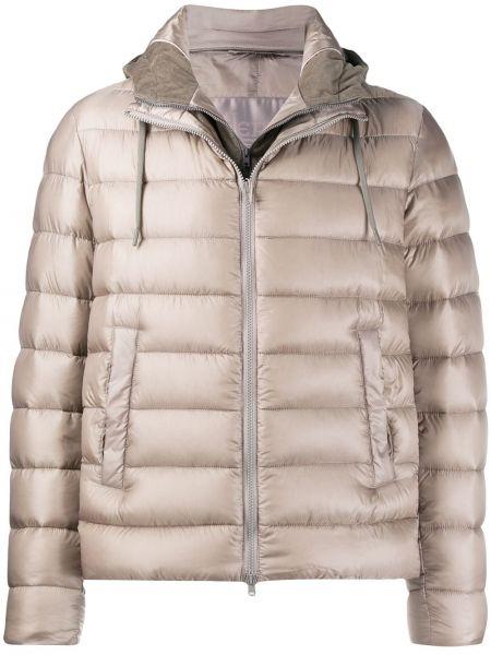 Bawełna bawełna krótka kurtka z kieszeniami Herno