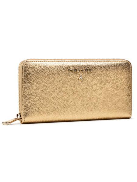 Złoty portfel Patrizia Pepe