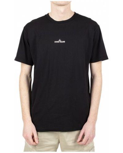 Czarny t-shirt Stone Island
